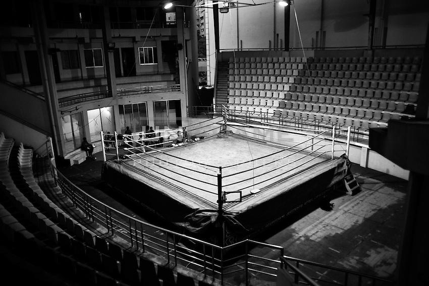 Inside view of the Mohammad Ali Boxing stadium, Dhaka, Bangladesh.