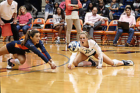 SAN ANTONIO, TX - OCTOBER 11, 2019: The Louisiana Tech University Lady Techsters fall to the University of Texas at San Antonio Roadrunners 3-1 (25-17, 25-16, 21-25, 25-18) at the UTSA Convocation Center. (Photo by Jeff Huehn)