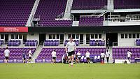 Orlando, Florida - Friday January 12, 2018: Lucas Stauffer during the sprint. The 2018 adidas MLS Player Combine Skills Testing was held Orlando City Stadium.