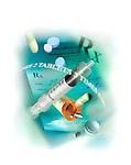 photo illustration, composite of prescription medications