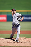Scottsdale Scorpions pitcher James Kaprielian (60), of the New York Yankees organization, during a game against the Mesa Solar Sox on October 18, 2016 at Sloan Park in Mesa, Arizona.  Mesa defeated Scottsdale 6-3.  (Mike Janes/Four Seam Images)