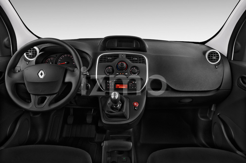 Straight dashboard view of a 2013 - 2014 Renault Kangoo Express Maxi 5 Door Mini Mpv.