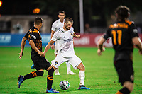 LAKE BUENA VISTA, FL - JULY 23: Perry Kitchen #2 of the LA Galaxy kicks the ball during a game between Los Angeles Galaxy and Houston Dynamo at ESPN Wide World of Sports on July 23, 2020 in Lake Buena Vista, Florida.