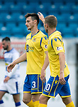 Greenock Morton v St Johnstone….09.07.19      Cappielow        Pre-Season Friendly<br />Scott Tanser celebrates his penalty with David Wotherspoon<br />Picture by Graeme Hart. <br />Copyright Perthshire Picture Agency<br />Tel: 01738 623350  Mobile: 07990 594431