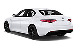 Car pictures of rear three quarter view of 2020 Alfaromeo Giulia Sprint 4 Door Sedan Angular Rear