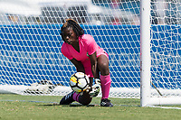 Bradenton, FL - Sunday, June 12, 2018: Madelina Fleuriot prior to a U-17 Women's Championship 3rd place match between Canada and Haiti at IMG Academy. Canada defeated Haiti 2-1.