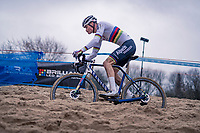 CX world champion Mathieu Van der Poel (NED/Alpecin-Fenix)<br /> <br /> 2020 Scheldecross Antwerp (BEL)<br /> <br /> ©kramon