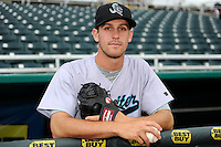 Jupiter Hammerheads pitcher Jake Esch #32 poses for a photo before a game against the Fort Myers Miracle on April 9, 2013 at Hammond Stadium in Fort Myers, Florida.  Fort Myers defeated Jupiter 1-0.  (Mike Janes/Four Seam Images)