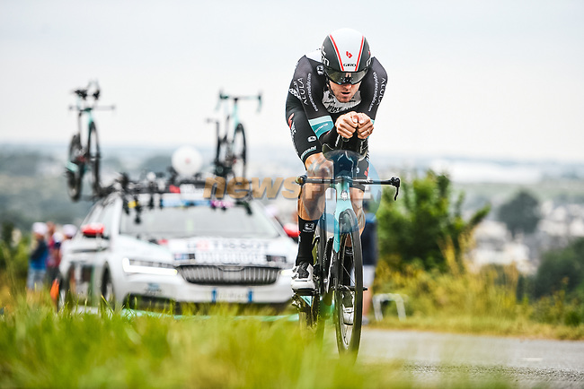 Luke Durbridge (AUS) Team BikeExchange in action during Stage 5 of the 2021 Tour de France, an individual time trial running 27.2km from Change to Laval, France. 30th June 2021.  <br /> Picture: A.S.O./Charly Lopez | Cyclefile<br /> <br /> All photos usage must carry mandatory copyright credit (© Cyclefile | A.S.O./Charly Lopez)