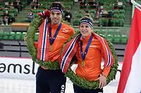 SPEEDSKATING: HAMAR: 01-03-2020, ISU World Speed Skating Championships, Allround, World Champions, Patrick Roest (NED), Ireen Wüst (NED), ©photo Martin de Jong