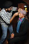 """Francisco Hernandez has a turban tie wrapped on his head by Gurpreet Singh at the Museum of Fine Arts Houston's 2013 Grand Gala """"India"""" Friday Oct. 04,2013.(Dave Rossman photo)"""