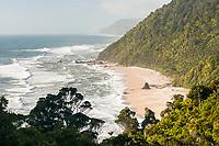 Scott's Beach of coastal part of Heaphy Track, Kahurangi National Park, West Coast, Buller Region, New Zealand