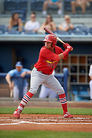 Palm Beach Cardinals Rayder Ascanio (3) during a Florida State League game against the Charlotte Stone Crabs on April 14, 2019 at Charlotte Sports Park in Port Charlotte, Florida.  Palm Beach defeated Charlotte 5-3.  (Mike Janes/Four Seam Images)