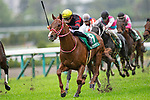 TAKARAZUKA,JAPAN-APR 17: Ho O Amazon #8,ridden by Yuga Kawada,wins the Arlington Cup at Hanshin Racecourse on April 17,2021 in Takarazuka,Hyogo,Japan. Kaz Ishida/Eclipse Sportswire/CSM