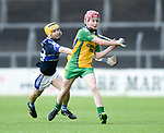 Conor Cahill of Kilmaley in action against Cian Shannon of Inagh-Kilnamona during their Minor A county final at Cusack Park. Photograph by John Kelly.
