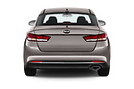 Straight rear view of 2018 KIA Optima LX 4 Door Sedan Rear View  stock images