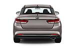 Straight rear view of 2018 KIA Optima LX 4 Door Sedan Rear View  stock images