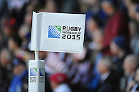 Close up of a corner flag during Match 18 of the Rugby World Cup 2015 between Scotland and USA - 27/09/2015 - Elland Road, Leeds<br /> Mandatory Credit: Rob Munro/Stewart Communications