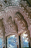 Arbury Hall, 1783.  Gothic Revival.  Salon. Warwickshire, England. Rebuilt by Sir Roger Newdigate.