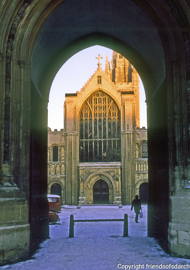Norwich: Norwich Cathedral--Close entrance. Photo '90.
