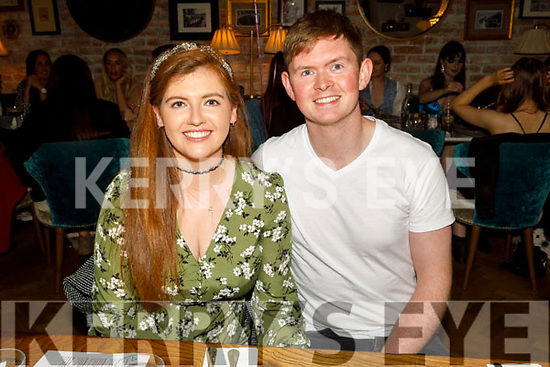 Mairead Leen and Kieran O'Hara enjoying the evening in the Ashe Hotel on Saturday.