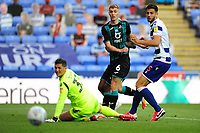 Jay Fulton of Swansea City has a shot during the Sky Bet Championship match between Reading and Swansea City at the Madejski Stadium in Reading, England, UK. Wednesday 22 July 2020.
