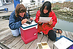 Jenny & Daniela Checking Water Sample