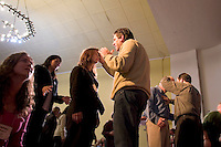 """South America, Argentina, Almirante Brown, Adrogue, Evangelism - Local spiritual leaders of Cristo para Todos (Christ for All) Church bless visiting international missionaries. Some participants receive such power they are """"slain in the Holy Spirit,"""" July 2006, ©Stephen Blake Farrington<br />"""
