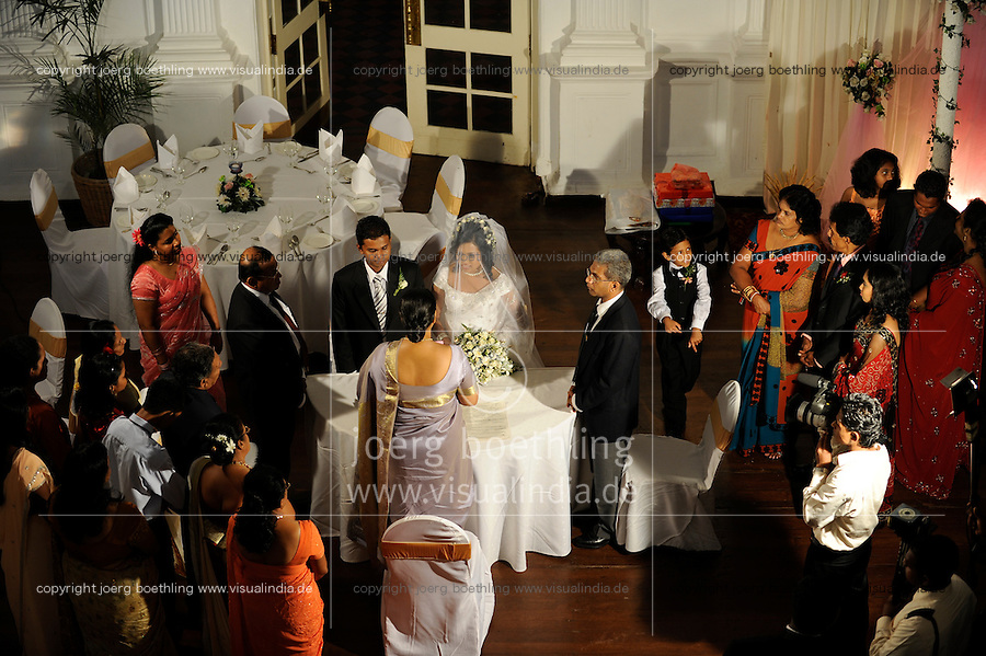 SRI LANKA Colombo, Galle Face Hotel, wedding party of rich people