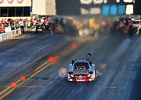 Jul. 25, 2014; Sonoma, CA, USA; NHRA funny car driver Tony Pedregon during qualifying for the Sonoma Nationals at Sonoma Raceway. Mandatory Credit: Mark J. Rebilas-