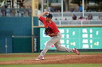 Springfield Cardinals pitcher Harold Arauz (40) during a Texas League game against the Frisco RoughRiders on May 4, 2019 at Dr Pepper Ballpark in Frisco, Texas.  (Mike Augustin/Four Seam Images)