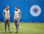 16.01.2020 Rangers training: Jordan Milsom and Steven Gerrard