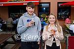 Enjoying their 1st pint at Christy's in Listowel on Bank Holiday Monday, l to r: Lee Fitzell (Lisselton) and Amy Lyons (Listowel).