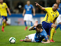 Soccer Football - 2018 World Cup Qualifications - Europe - Italy vs Sweden - San Siro, Milan, Italy - November 13, 2017 <br /> Italy's Andrea Belotti (l) in action with Sweden's Captain Andreas Granqvist (r) during the FIFA World Cup 2018 qualification football match between Italy and Sweden at the San Siro Stadium in Milan on November 13, 2017.<br /> UPDATE IMAGES PRESS/Isabella Bonotto