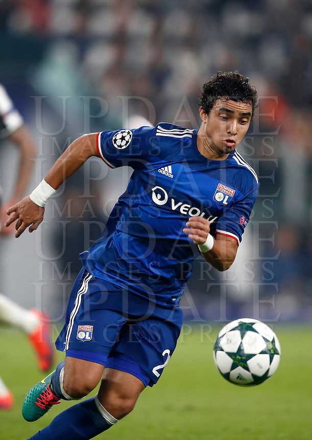 Calcio, Champions League: Gruppo H, Juventus vs Lione. Torino, Juventus Stadium, 2 novembre 2016. <br /> Lyon's Rafael in action during the Champions League Group H football match between Juventus and Lyon at Turin's Juventus Stadium, 2 November 2016. The game ended 1-1.<br /> UPDATE IMAGES PRESS/Isabella Bonotto