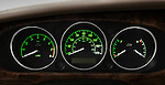 Instrument panel detail of a 2008 Jaguar XJ Sedan