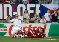 USA's Stuart Holden (22) battles for a ball with the Czech Republic's Daniel Pudil (11) during an international friendly tune up match for the 2012 World Cup, in Hartford, CT, 05/25/10. The Czech Republic defeated the USA 4-2.