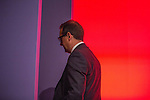 © Joel Goodman - 07973 332324 . 24/09/2016 . Liverpool , UK . OWEN SMITH leaves the arena after Jeremy Corbyn gives his victory speech at the Labour Party leadership declaration in the campaign between Jeremy Corbyn and Owen Smith , at the Liverpool Arena and Convention Centre ahead of the party's 2016 Conference . Photo credit : Joel Goodman