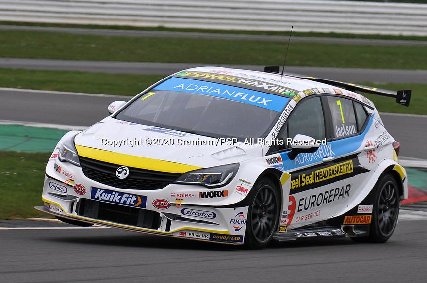 2020 British Touring Car Championship Media day. #7 Mat Jackson. Power Maxed Car Care Racing. Vauxhall Astra