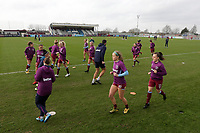 West Ham players warm up during West Ham United Women vs Arsenal Women, Women's FA Cup Football at Rush Green Stadium on 26th January 2020