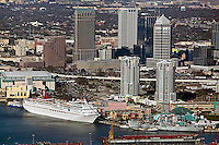 aerial photograph cruise terminal Port of Tampa Florida