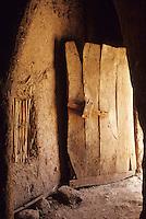 Near Skoura, Morocco - Old Wooden Door, Kasbah Ameridhil.