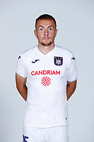 30th July 2020, Turbize, Belgium; Adrien Trebel midfielder of Anderlecht  pictured during the team photo shoot of Rsc Anderlecht prior the new Jupiler Pro League season, on 30/07/2020, in Tubize, Belgium.