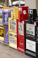 Newspaper boxes in..Ottawa, Capital of Canada....photo : (c)  Images Distribution..