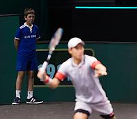 Rotterdam, The Netherlands, 28 Februari 2021, ABNAMRO World Tennis Tournament, Ahoy, First round match: Kei Nishikori (JPN).<br /> Photo: www.tennisimages.com/henkkoster