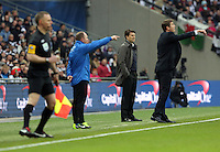 Pictured:  Michael Laudrup (L), Phil Parkinson (R). Sunday 24 February 2013<br /> Re: Capital One Cup football final, Swansea v Bradford at the Wembley Stadium in London.