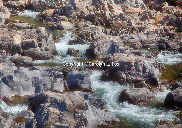 Water rushes over the orcks at Johnson Shut-ins in southern Missouri.