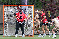 NEWTON, MA - MAY 14: Olivia Conquest #35 of Fairfield University during NCAA Division I Women's Lacrosse Tournament first round game between Fairfield University and Boston College at Newton Campus Lacrosse Field on May 14, 2021 in Newton, Massachusetts.