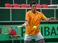 29-01-2014,Czech Republic, Ostrava,  Cez Arena, Davis-cup Czech Republic vs Netherlands, practice, Igor Sijsling(NED)<br /> Photo: Henk Koster