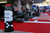 27th September 2020, Sochi, Russia; FIA Formula One Grand Prix of Russia, Race Day;  44 Lewis Hamilton GBR, Mercedes-AMG Petronas Formula One Team   takes 3rd place after a 10 second penalty
